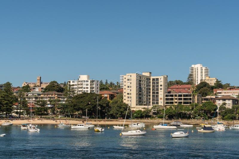 Baía da árvore de couve e praia viris, Sydney Australia fotografia de stock royalty free