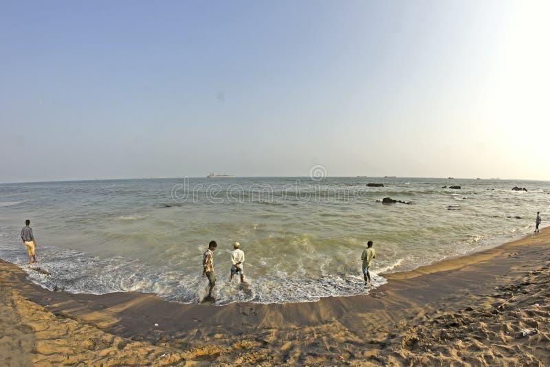Baía de Bengal em Vishakhapatnam foto de stock