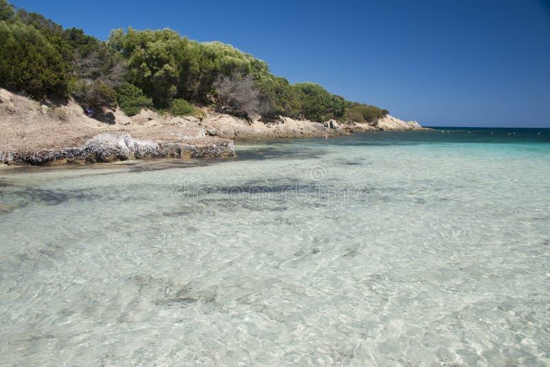 A baía de Cala Granu em Sardinia fotos de stock royalty free