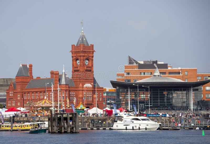 Baía de Cardiff fotografia de stock royalty free
