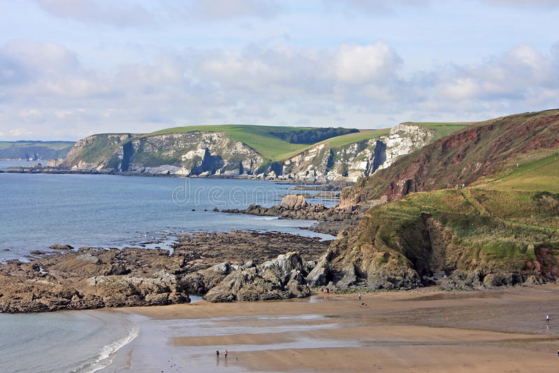 Baía de Challaborough, Devon fotografia de stock royalty free