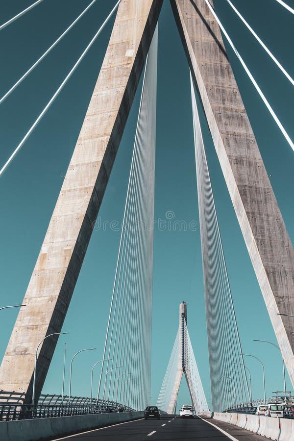 Baía de colunas da ponte de Cadiz, Cadiz imagens de stock royalty free