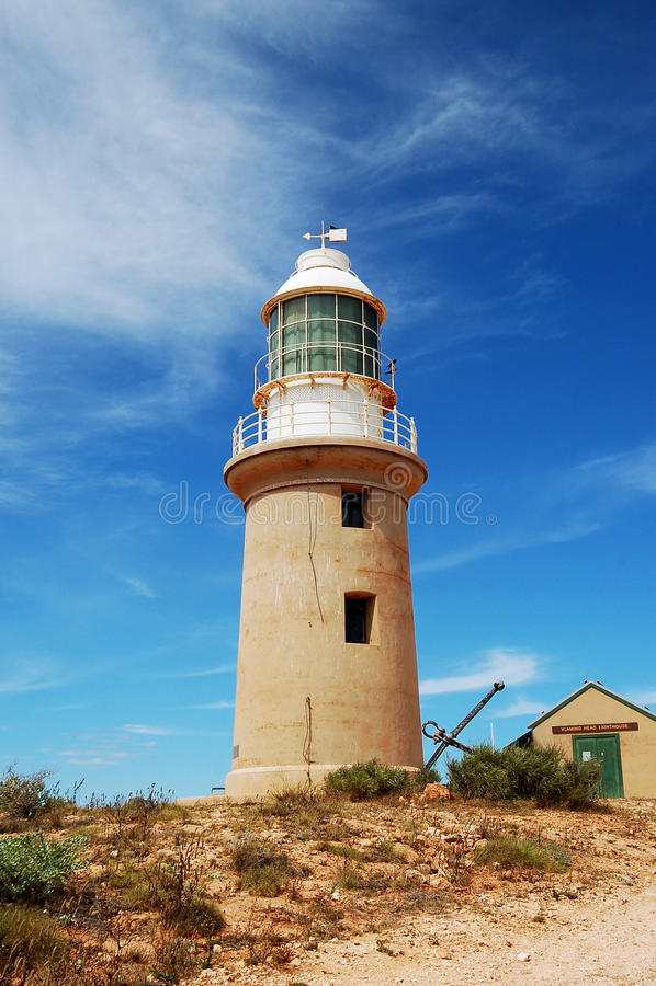 Baía de Exmouth, Austrália Vista do farol fotos de stock royalty free