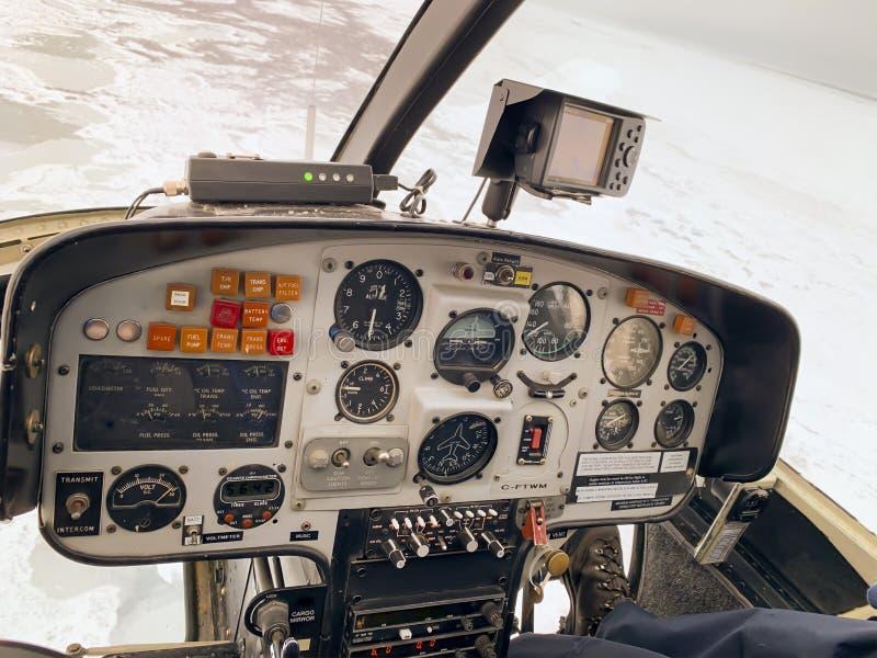 Baía de Hudson de helicóptero imagens de stock