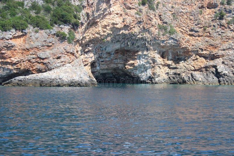 A baía de Kotor foto de stock