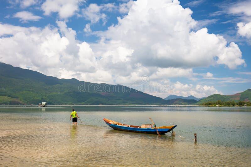 Baía de Lang Co imagem de stock