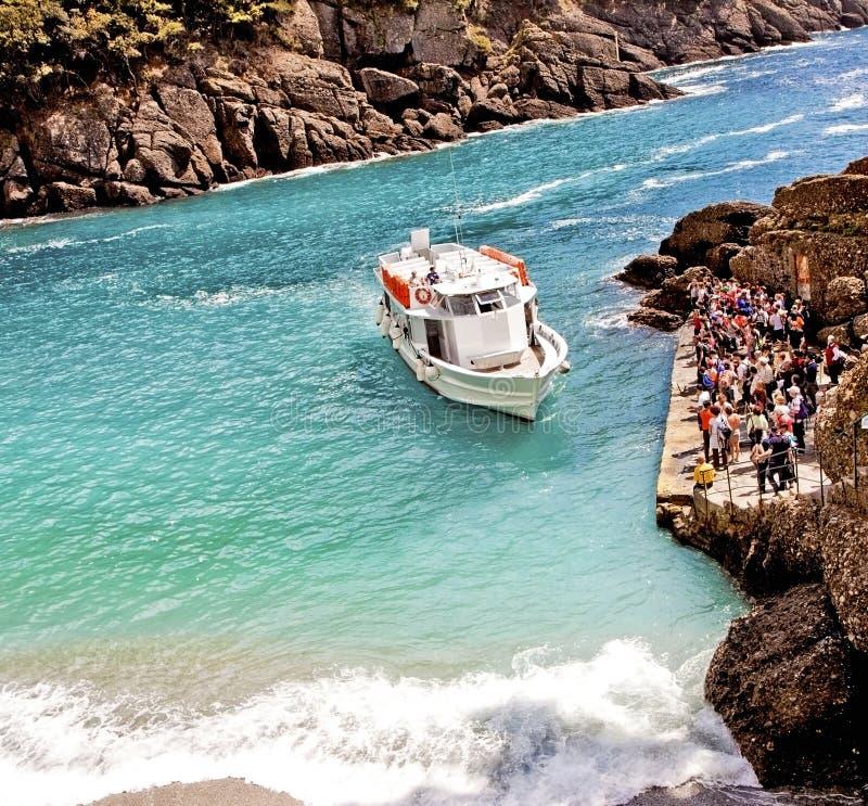 Baía de Liguria, Itália - de San Fruttuoso perto de Genoa fotos de stock