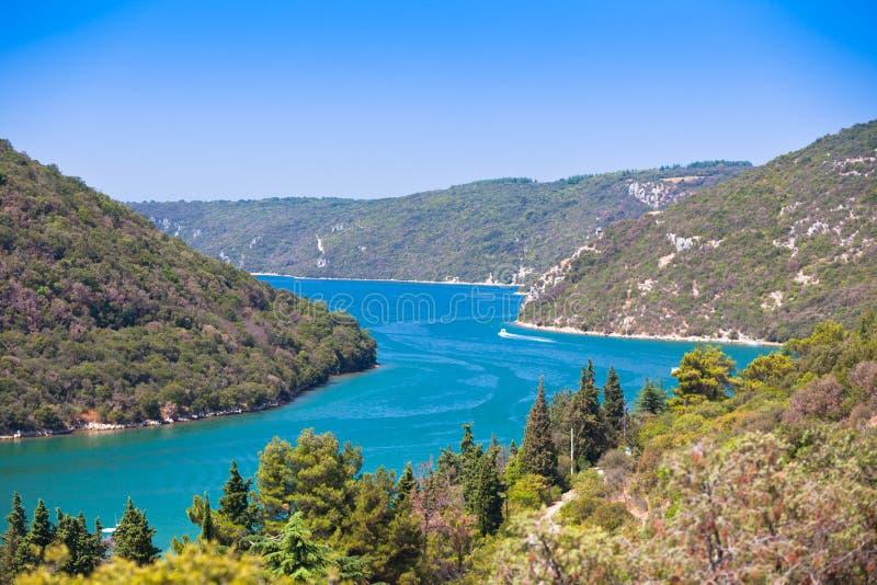 A baía de Lim na Croácia imagens de stock royalty free