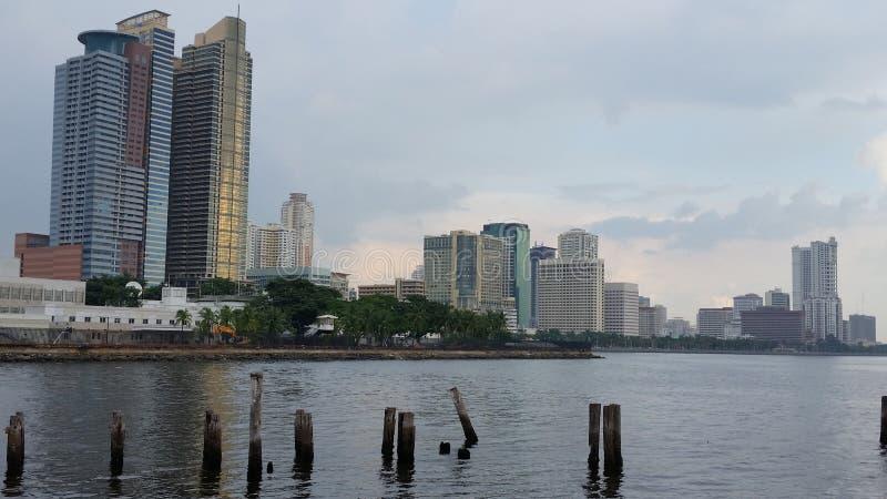 Baía de Manila imagem de stock