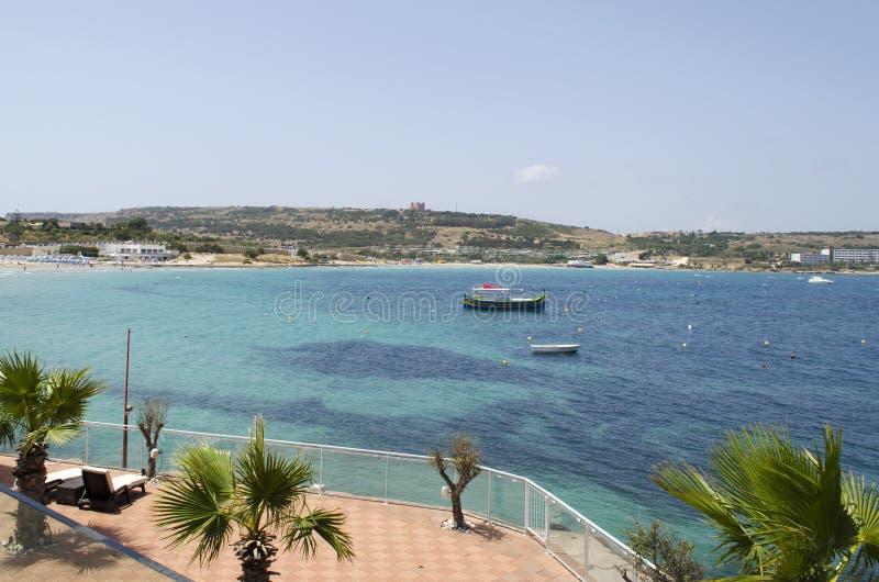 Baía de Mellieha fotografia de stock