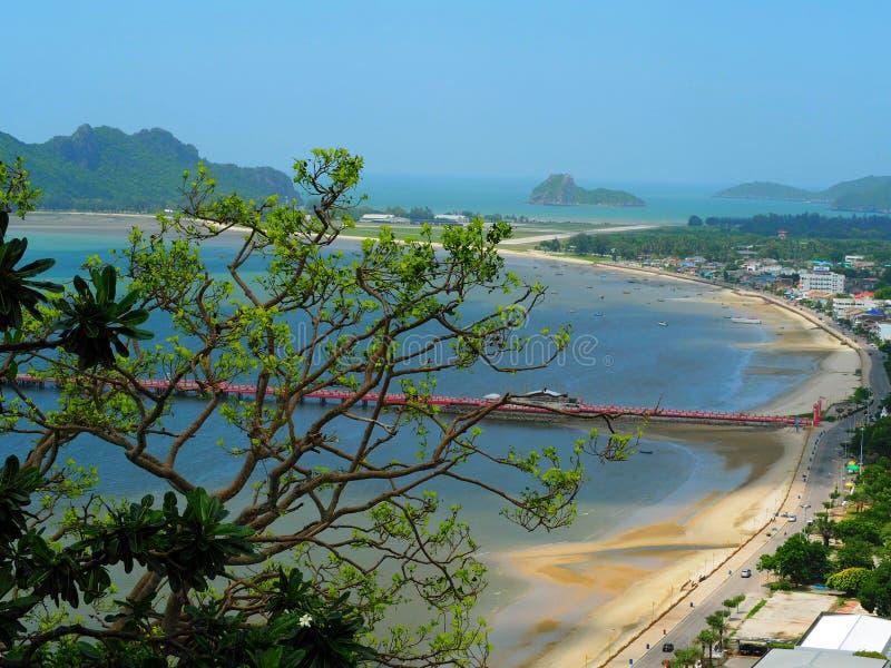 Baía de Prachuabkhirikhan fotografia de stock