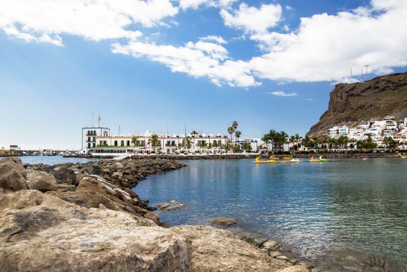 Baía de Puerto de Mogan Gran Canaria imagens de stock royalty free