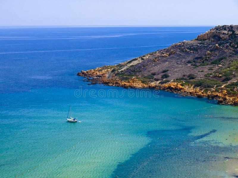 Baía de Ramla, Gozo, Malta fotografia de stock