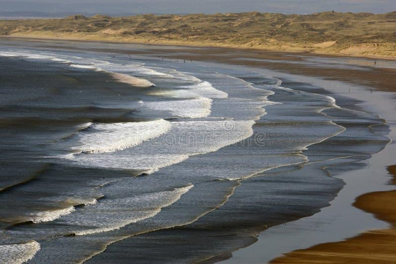 Baía de Rhossili, Gower, Swansea fotografia de stock royalty free