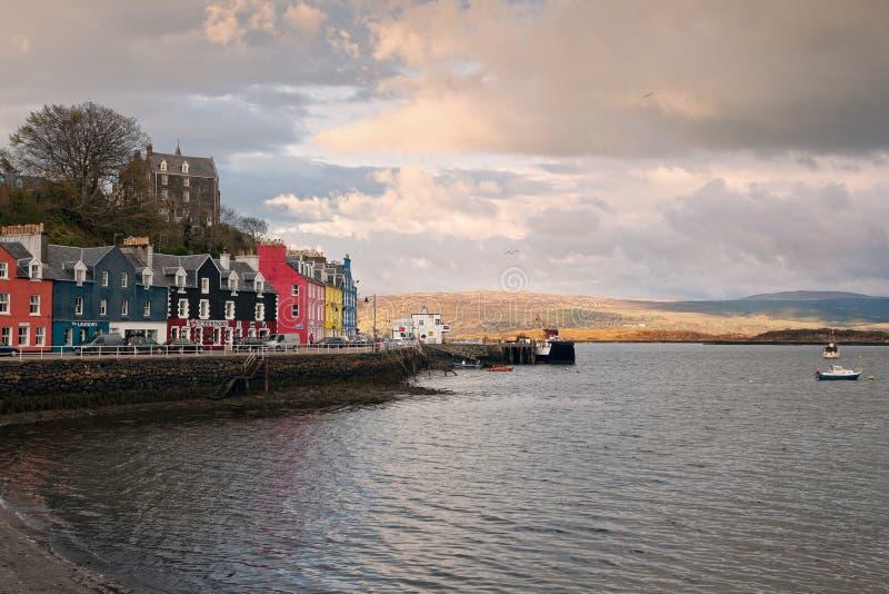 Baía de Tobermory no por do sol fotos de stock royalty free