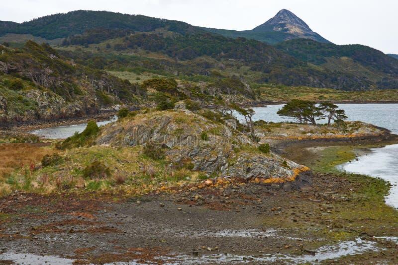 Baía de Wulaia imagem de stock royalty free
