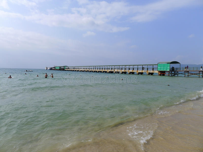 Baía de Yalong em sanya, hainan imagem de stock royalty free