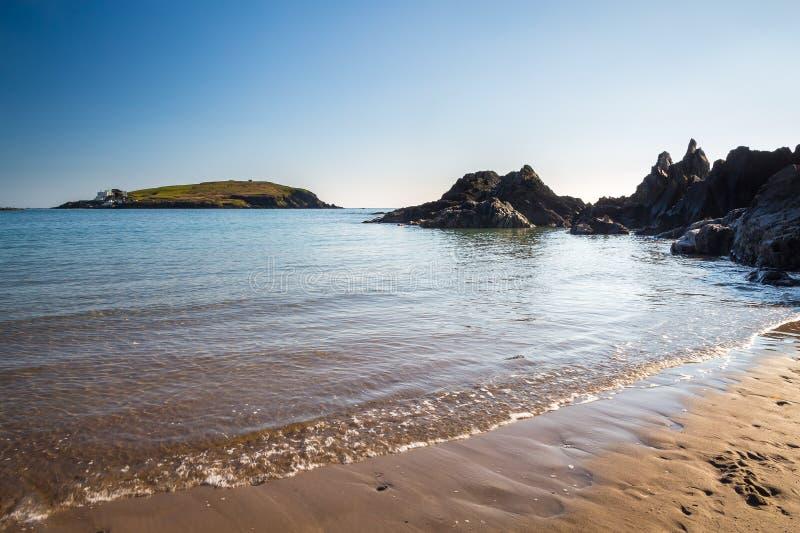 Baía Devon England de Challaborough imagem de stock