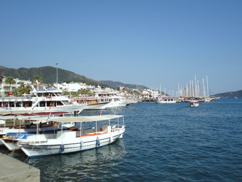 baía do iate em Marmaris fotografia de stock