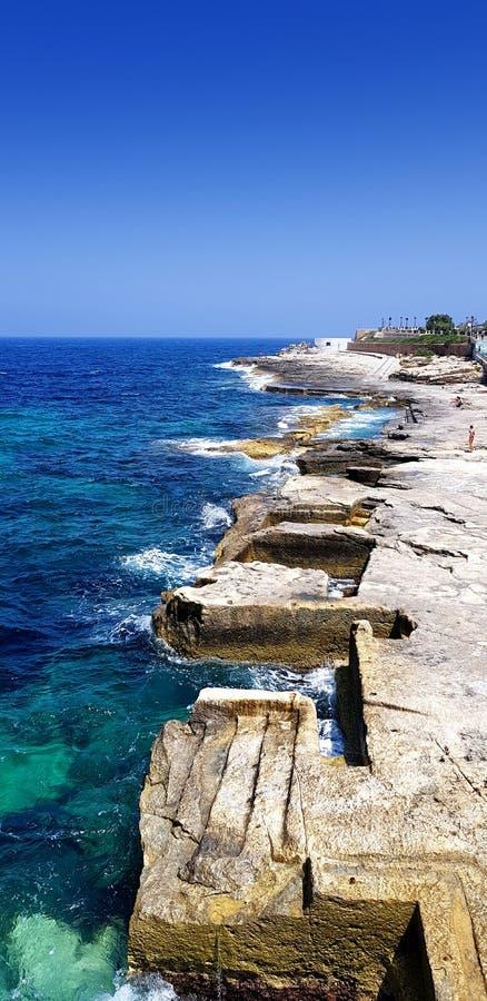 Baía do luxo de Malta fotografia de stock