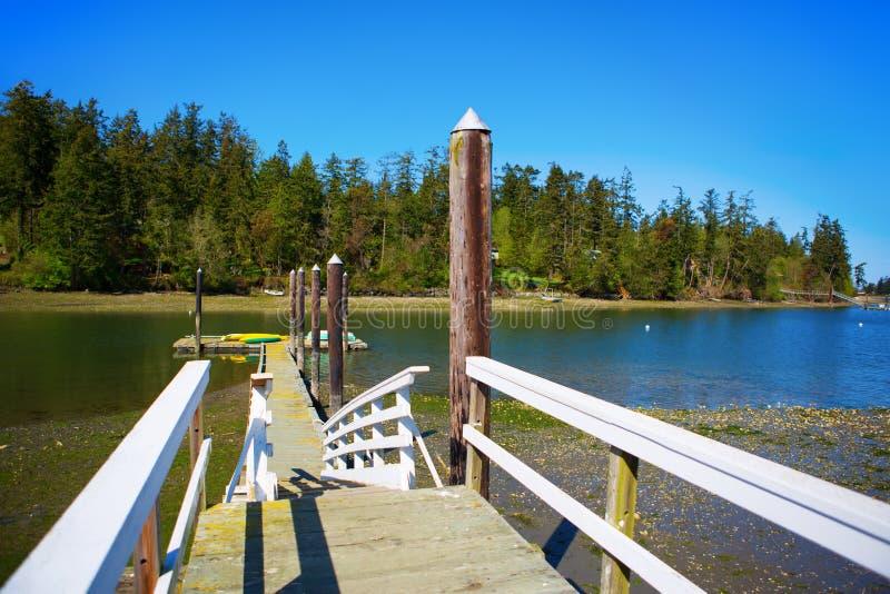 Baía do mistério, ilha de Marrowstone Península olímpica Estado de Washington imagens de stock