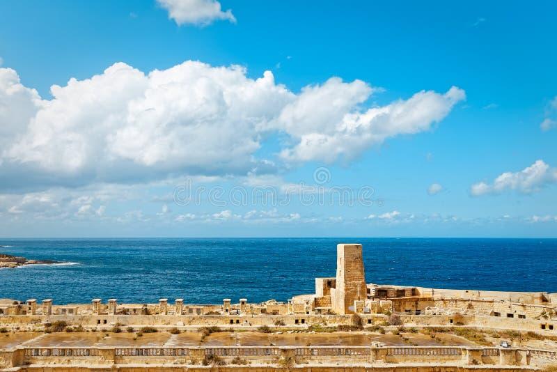 Baía do porto grande no porto de Valletta fotografia de stock royalty free