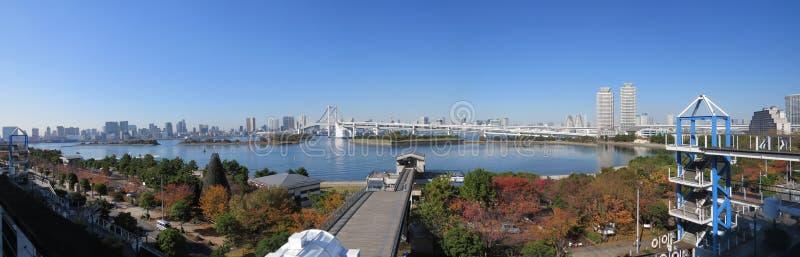 Baía do Tóquio, Tóquio, Japão foto de stock royalty free