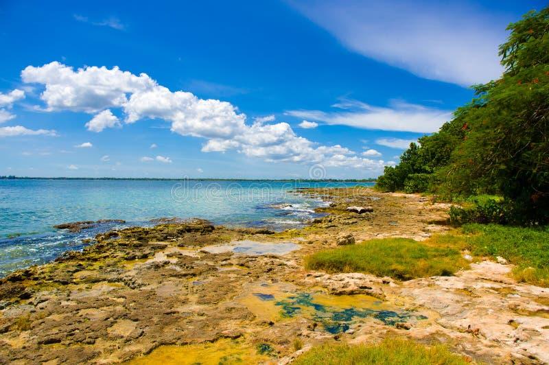 A baía dos porcos, playa Giron, Cuba fotografia de stock