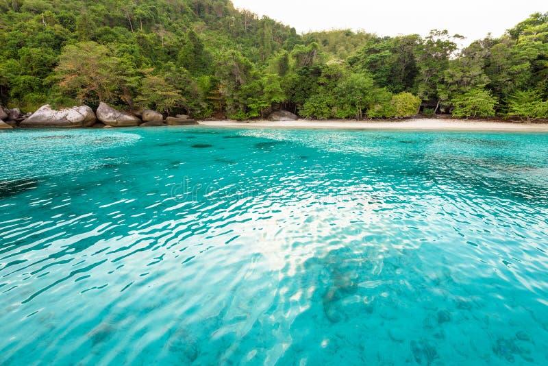 Baía e praia da lua de mel na ilha de Similan, Tailândia imagem de stock royalty free