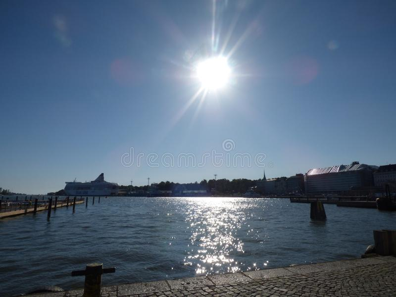 Baía em Helsínquia fotografia de stock