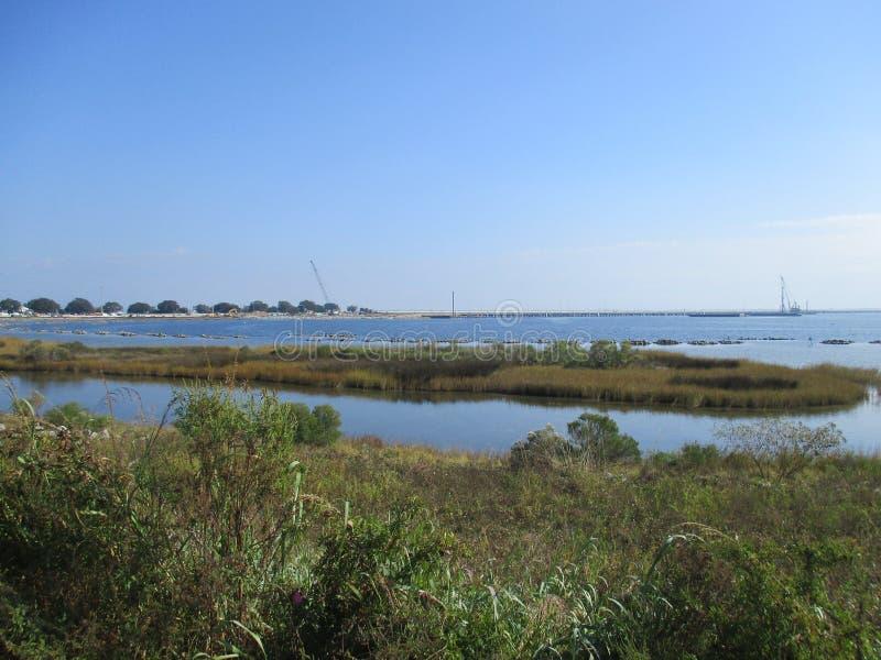 Baía escondida em Pensacola fotos de stock