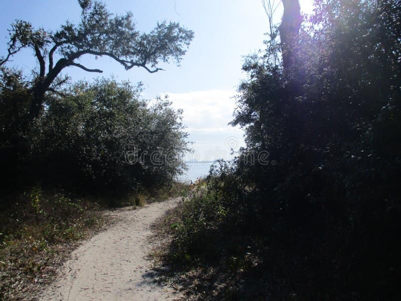 Baía escondida em Pensacola fotografia de stock