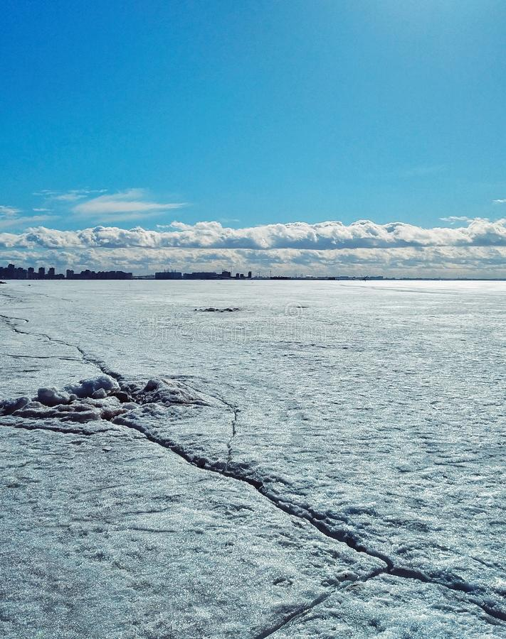 A baía finlandesa em St Petersburg fotos de stock royalty free