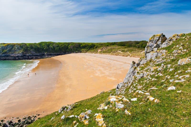 Baía Gales de Barafundle foto de stock royalty free