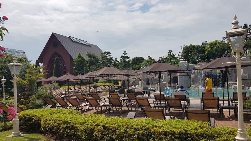 Baía grandioso de tokyo do sheraton da piscina imagem de stock