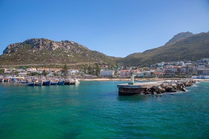 Baía Habour de Kalk, cabo ocidental, África do Sul foto de stock royalty free