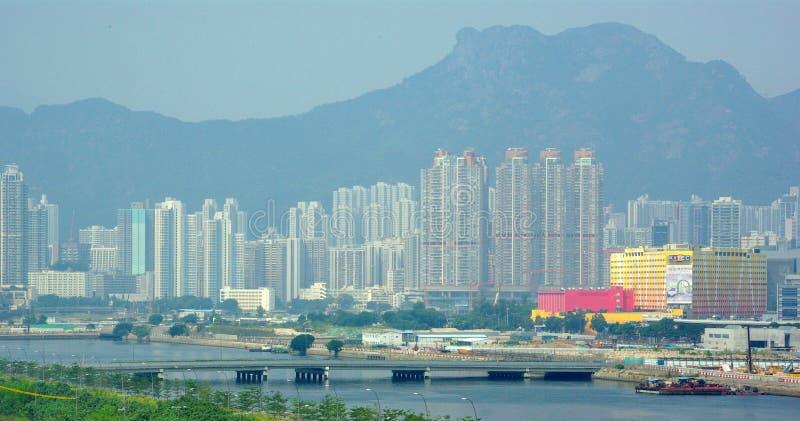 Baía Hong Kong de Kowloon foto de stock