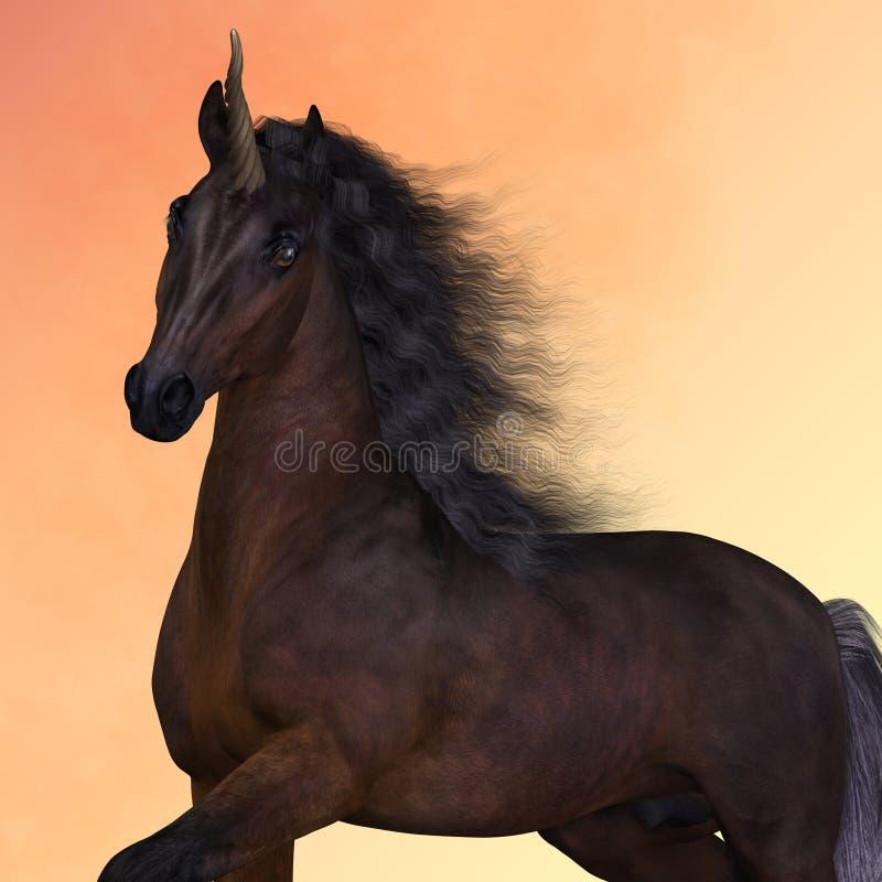 Baía Unicorn Prance ilustração royalty free