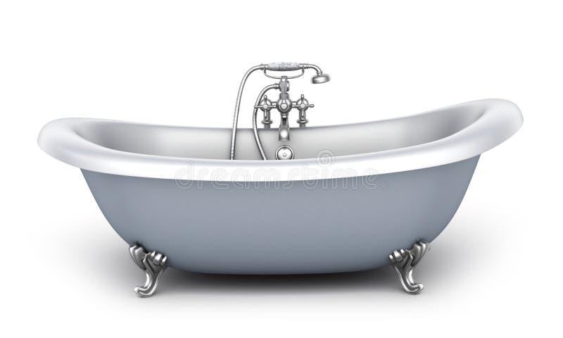 Bañera y grifo stock de ilustración