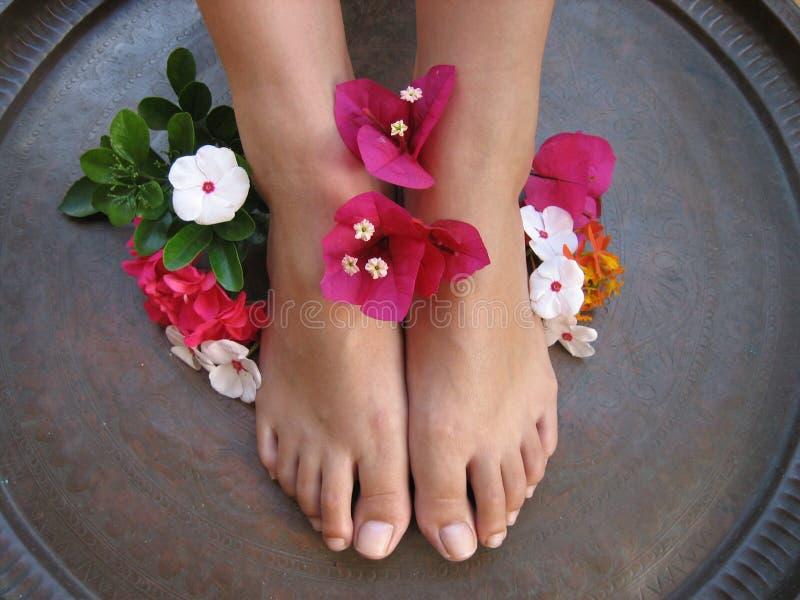 Baño 1b del pie imagen de archivo libre de regalías