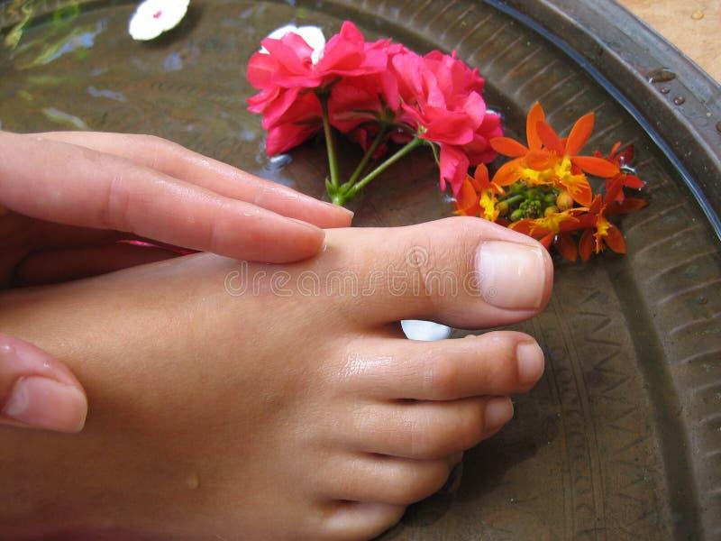 Baño 1f del pie foto de archivo