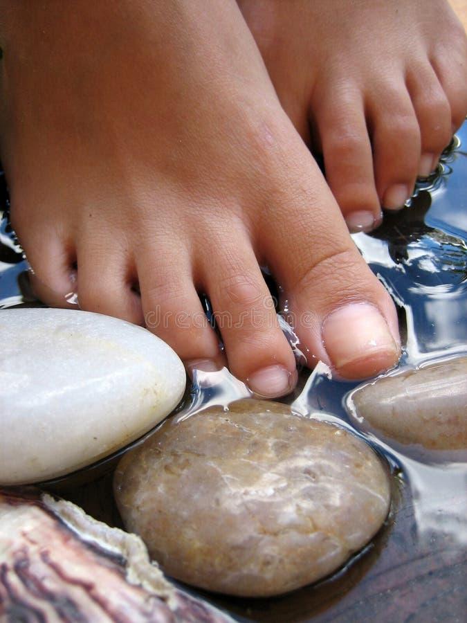 Baño 2.o del pie fotos de archivo