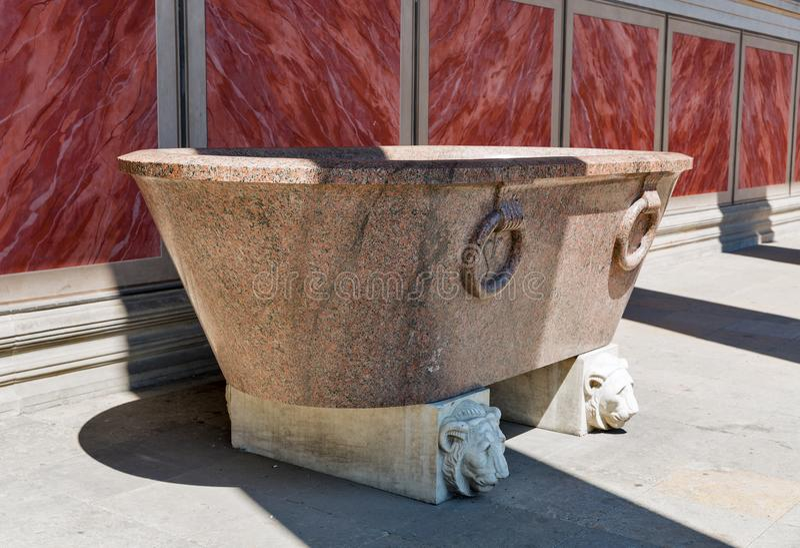 Baño antiguo del museo de Altes en Berlín, Alemania imagen de archivo libre de regalías