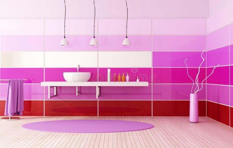 Baño coloreado brillante stock de ilustración