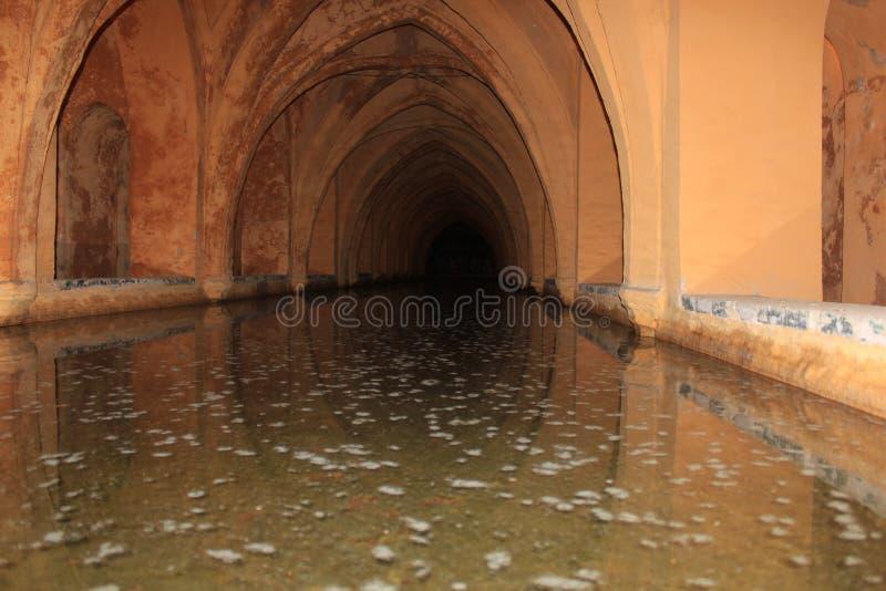 Baño de la reina del Alcazar, Sevilla, Andaluc3ia, España fotos de archivo libres de regalías