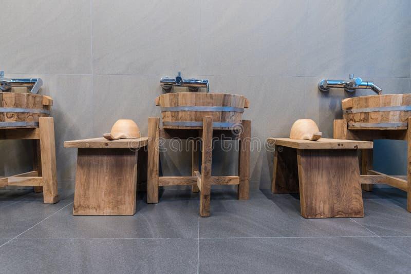 Baño de Onsen fotos de archivo libres de regalías
