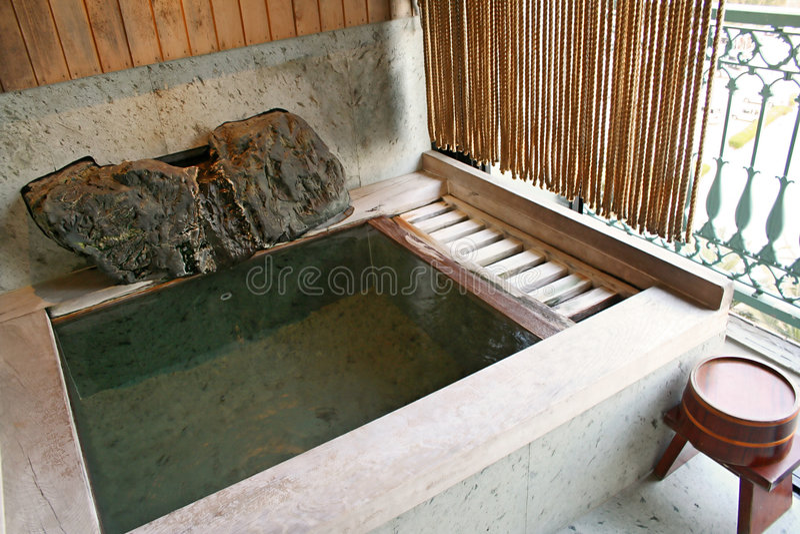Baño de Onsen foto de archivo