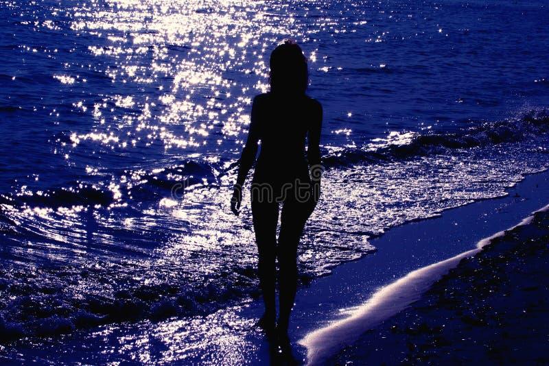 Baño del claro de luna foto de archivo libre de regalías