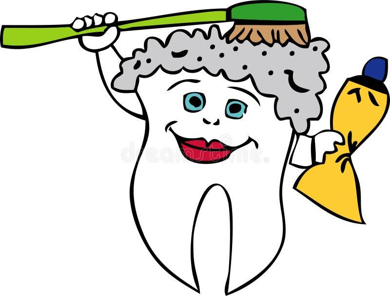 Baño del diente stock de ilustración