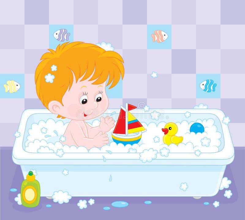 Baño del muchacho libre illustration